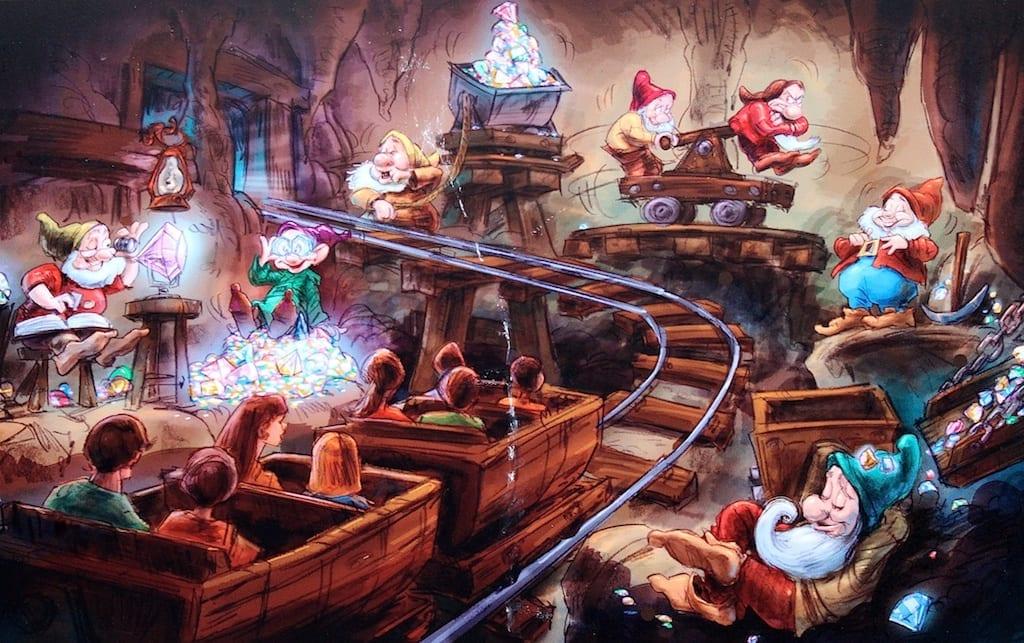 Seven Dwarfs Mine Train Concept