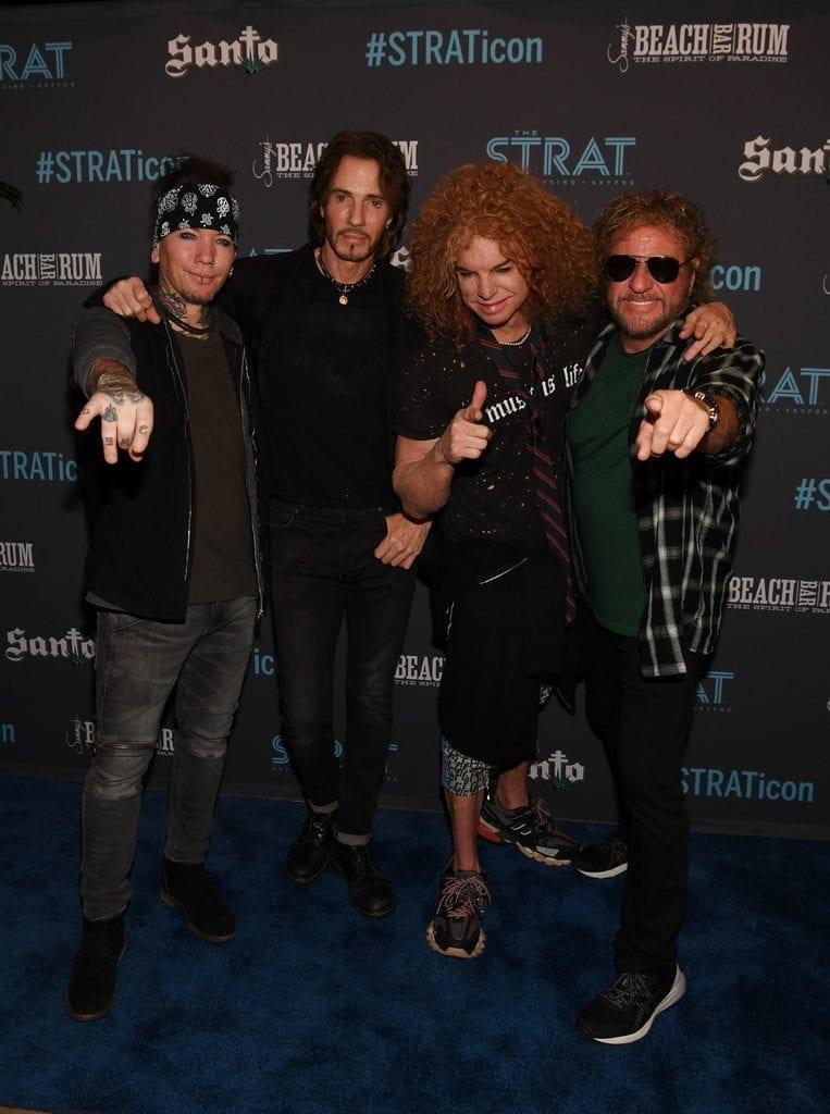 ASHBA, Rick Springfield, Carrot Top, and Sammy Hagar at The STRAT Hotel, Casino & SkyPod