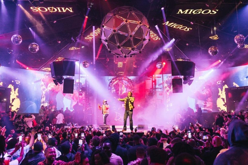Migos Performing at Drai's Nightclub in Las Vegas