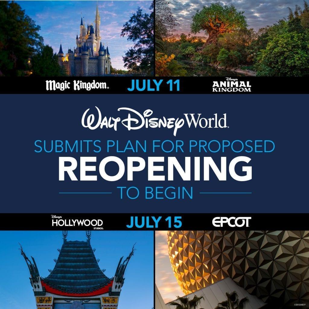 Phased Reopening of Walt Disney World Resort