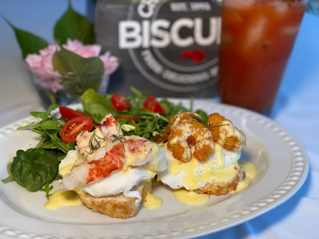 Red Lobster - Cheddar Bay Biscuit Benedict