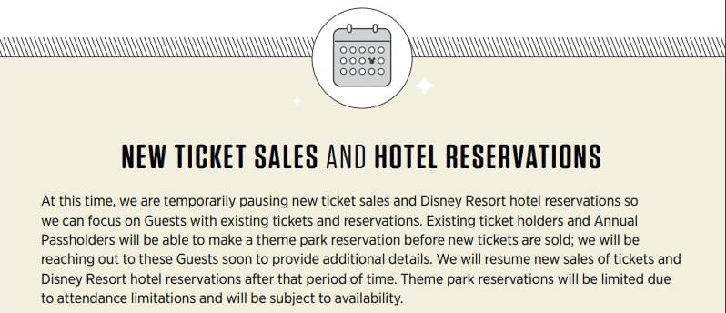 Walt Disney World Resort Reservations Update