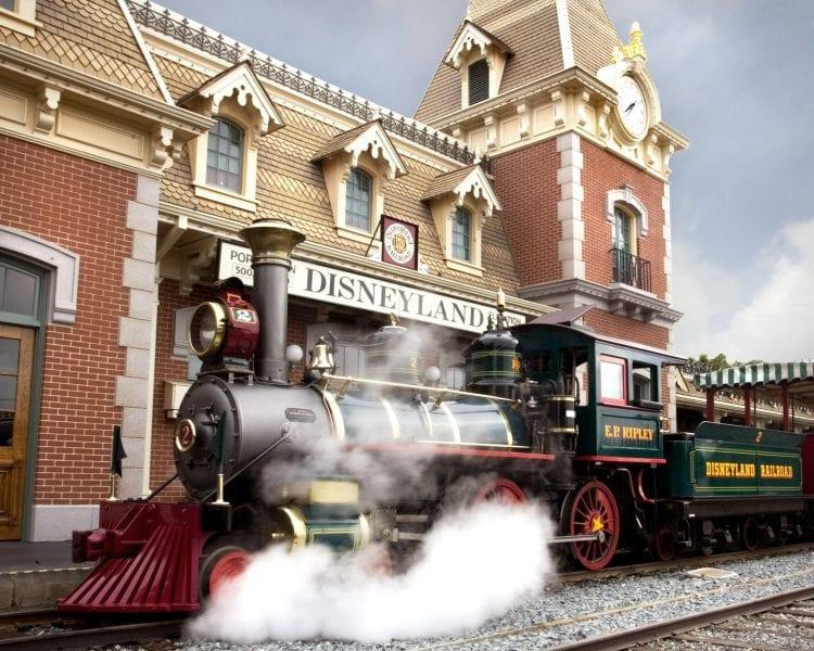 Disneyland Railroad at Main Street, U.S.A. Train Station