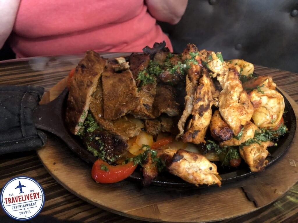 Chicken, Steak, & Shrimp Combo - Fajita Platter