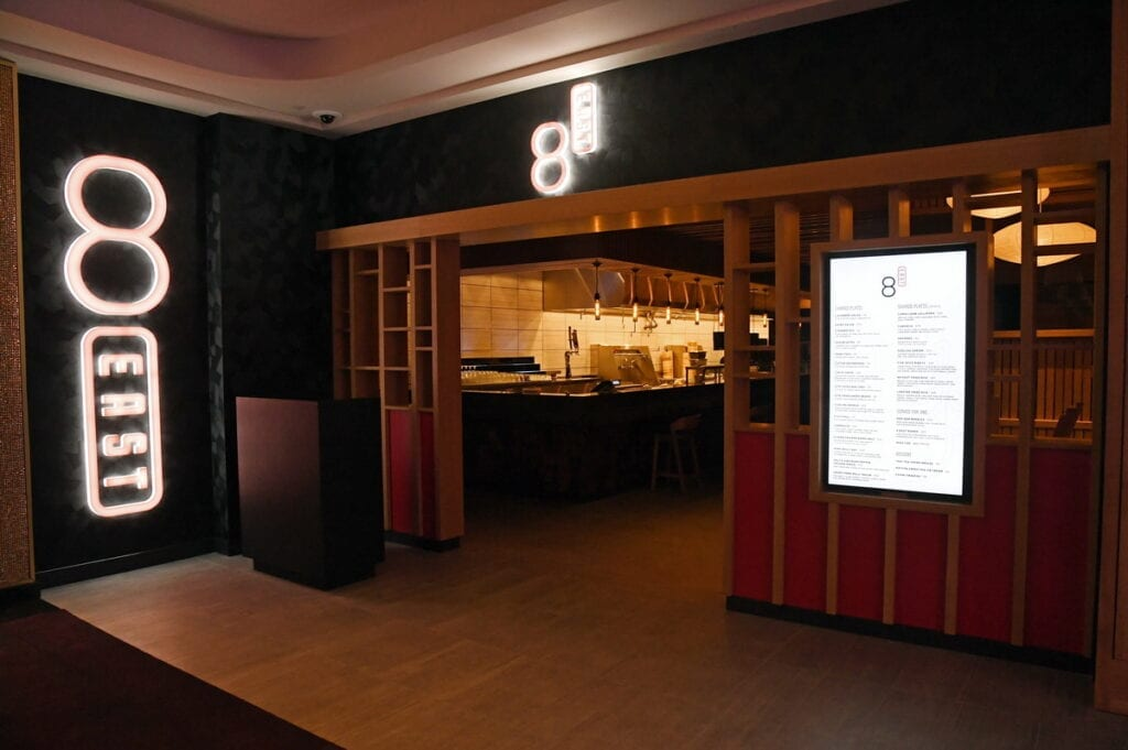 8 East is a Pan-Asian restaurant from Chef Dan Coughlin