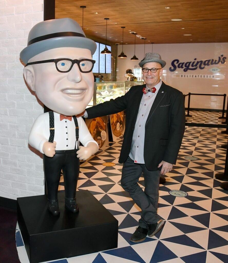 Paul Saginaw at Saginaw's Delicatessen in Circa Resort & Casino