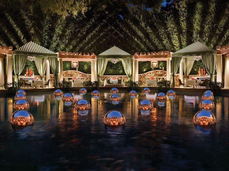 Al Fresco Dining at Costa di Mare Cabanas inside Wynn Las Vegas