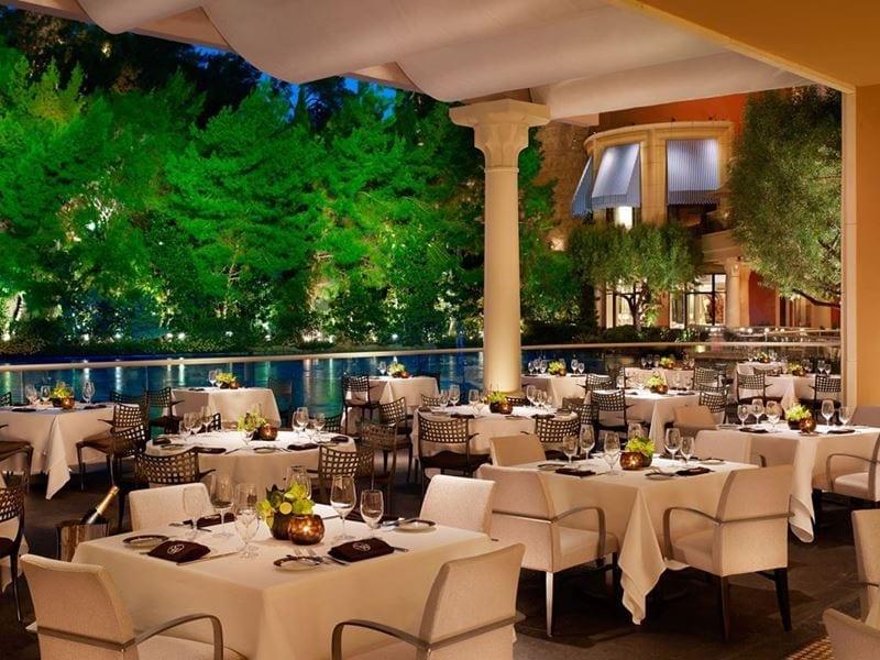 Al Fresco Dining at SW Steakhouse Patio inside Wynn Las Vegas