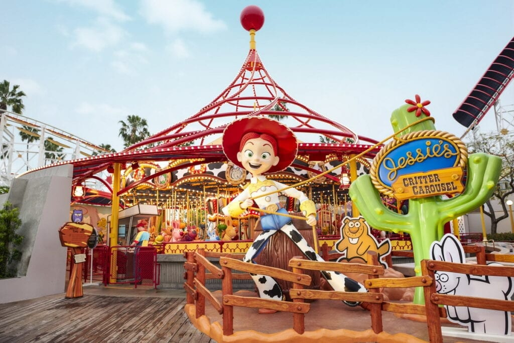 Jessie's Critter Carousel at Disney California Adventure Park