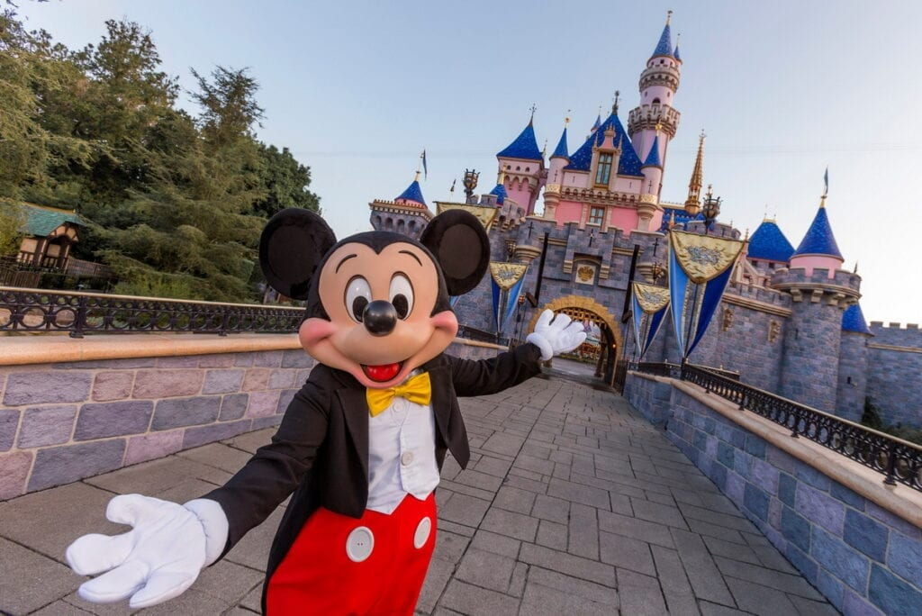 Mickey Mouse at Sleeping Beauty Castle