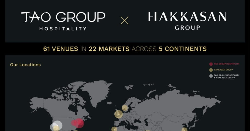Tao Group Hospitality & Hakkasan Group Merge
