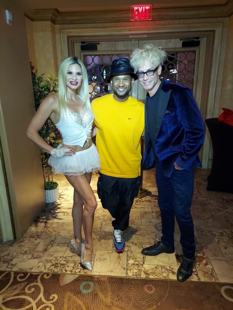 Usher with Dani Elizabeth and Murray SawChuck