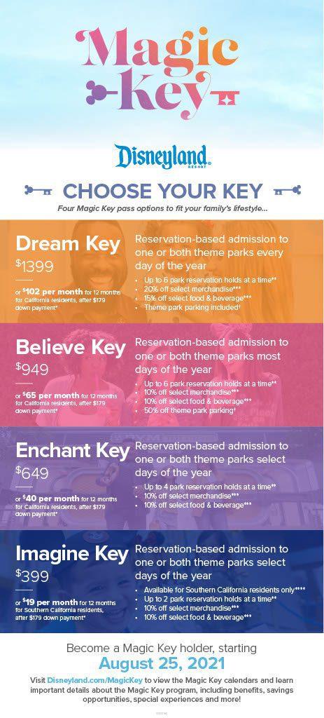 Disneyland Magic Key Infographic