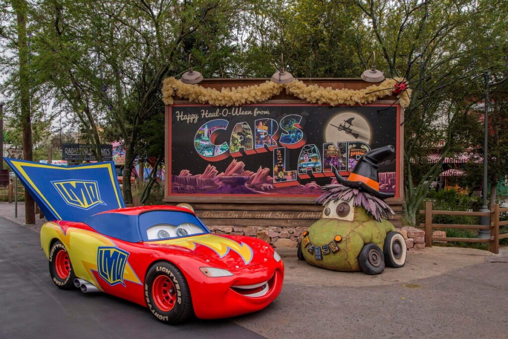 Halloween Time in Cars Land at the Disneyland Resort
